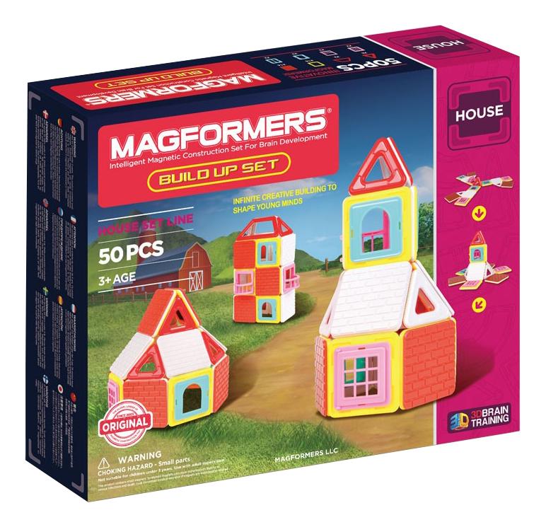Купить Конструктор магнитный Magformers Build Up 50 деталей, Магнитные конструкторы
