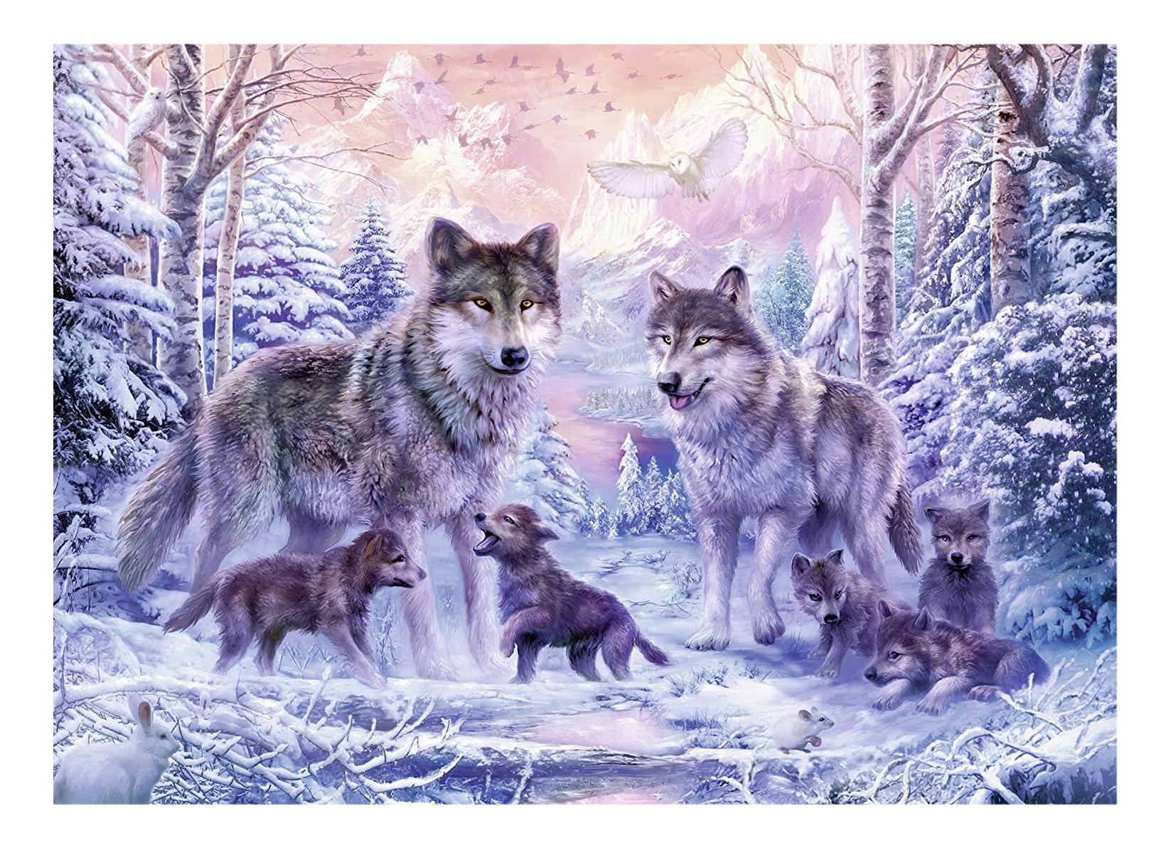 Пазл Ravensburger Северные волки 1000 деталей фото