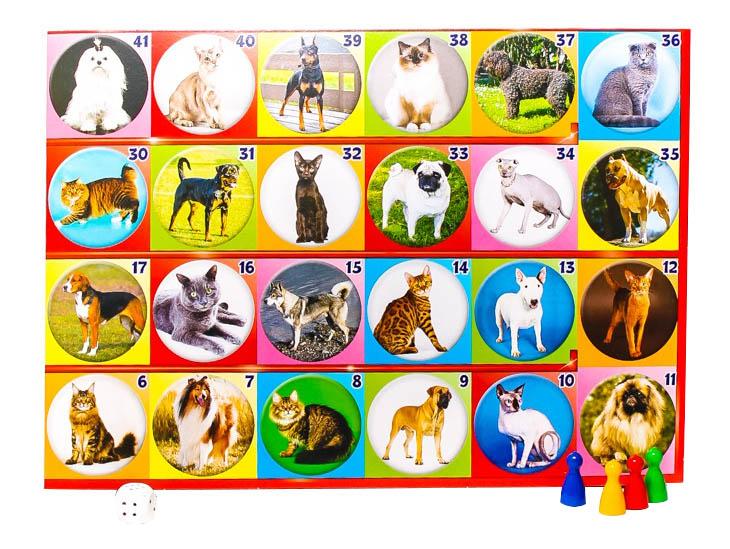 Купить Семейная настольная игра Русский Стиль Кошки и собаки, Русский стиль,