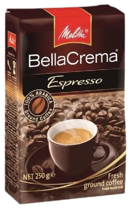 Кофе молотый Melitta bella crema espresso 250 г