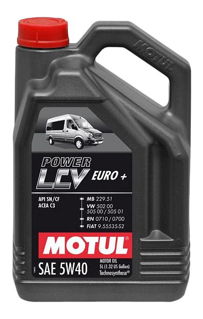 Моторное масло Motul Power LCV Euro+ 5W-40 5л