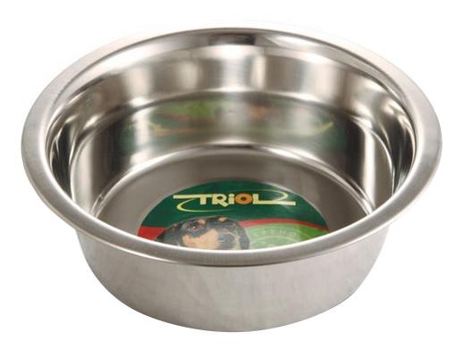 Одинарная миска для собак Triol, сталь, серебристый,