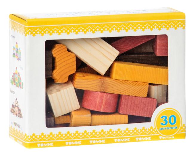 Конструктор деревянный Томик Краски дня день 30 деталей