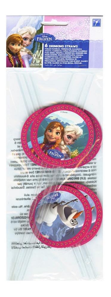 Соломка для напитков Холодное сердце Procos S.A. 6 штук
