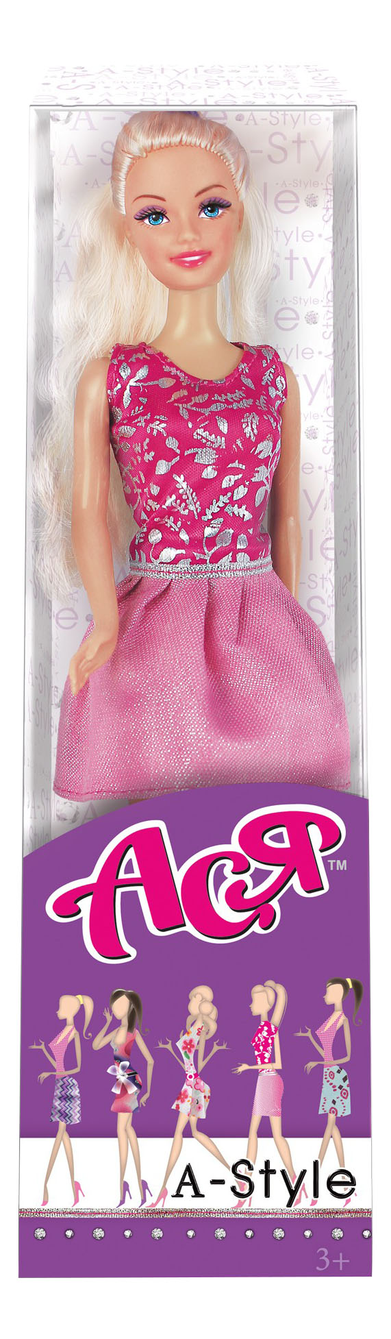 Кукла ToysLab Entertainment Ася Блондинка в розовом платье А-стайл