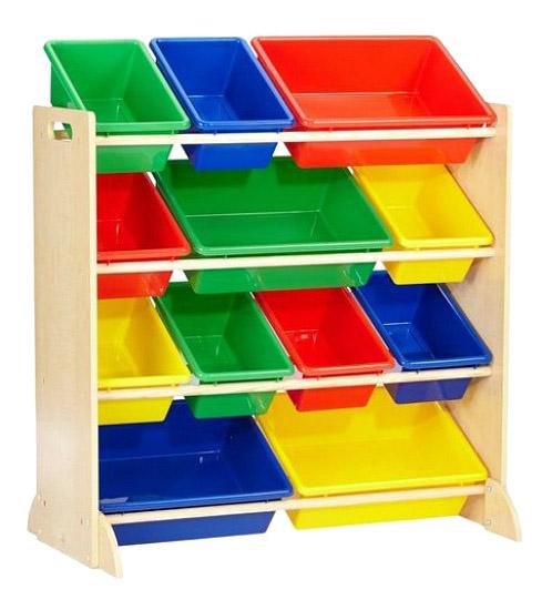 Купить 16774_KE, Стеллаж для хранения игрушек KidKraft Система для хранения с контейнерами,