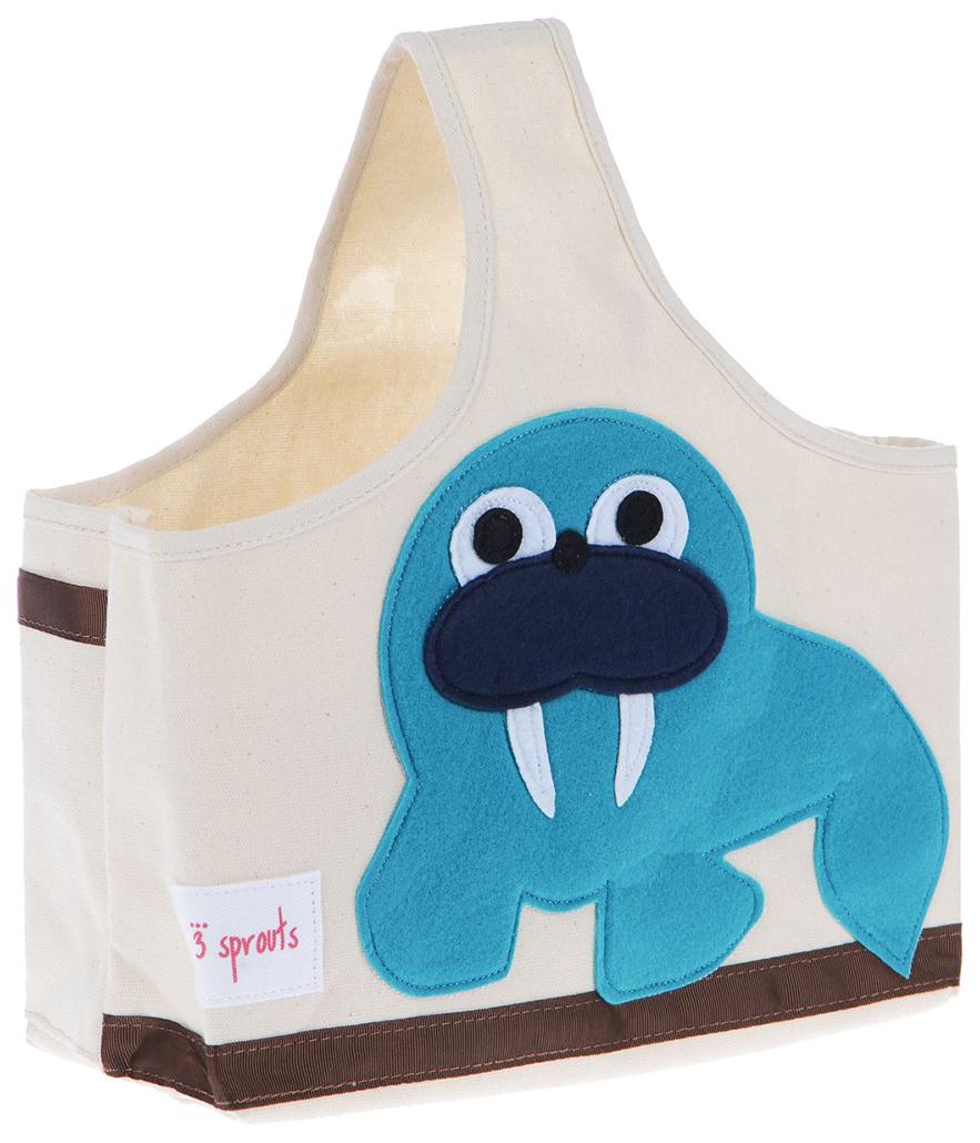 Купить Корзина для хранения игрушек 3 Sprouts Морж, Корзины для хранения игрушек