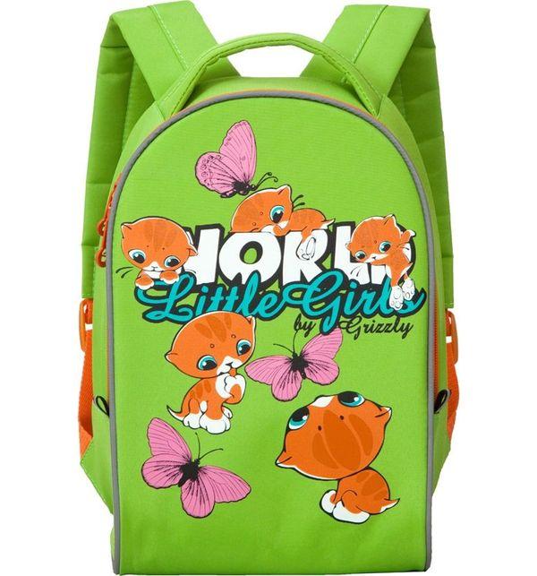 Рюкзак детский Grizzly RS-665-1 детский салатовый