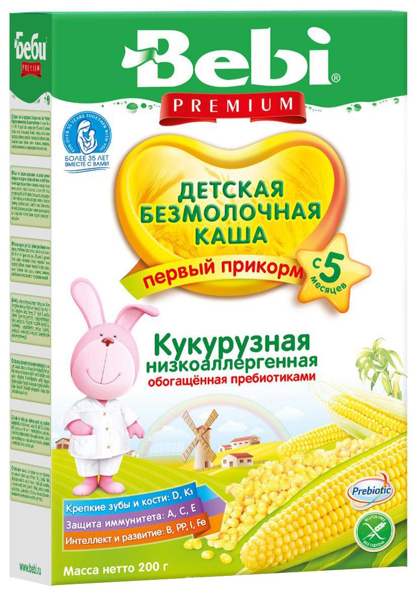 Купить Кукурузная низкоаллергенная с пребиотиками 200 г, Безмолочная каша Bebi Кукурузная низкоаллергенная с пребиотиками с 5 мес 200 г, Детские каши