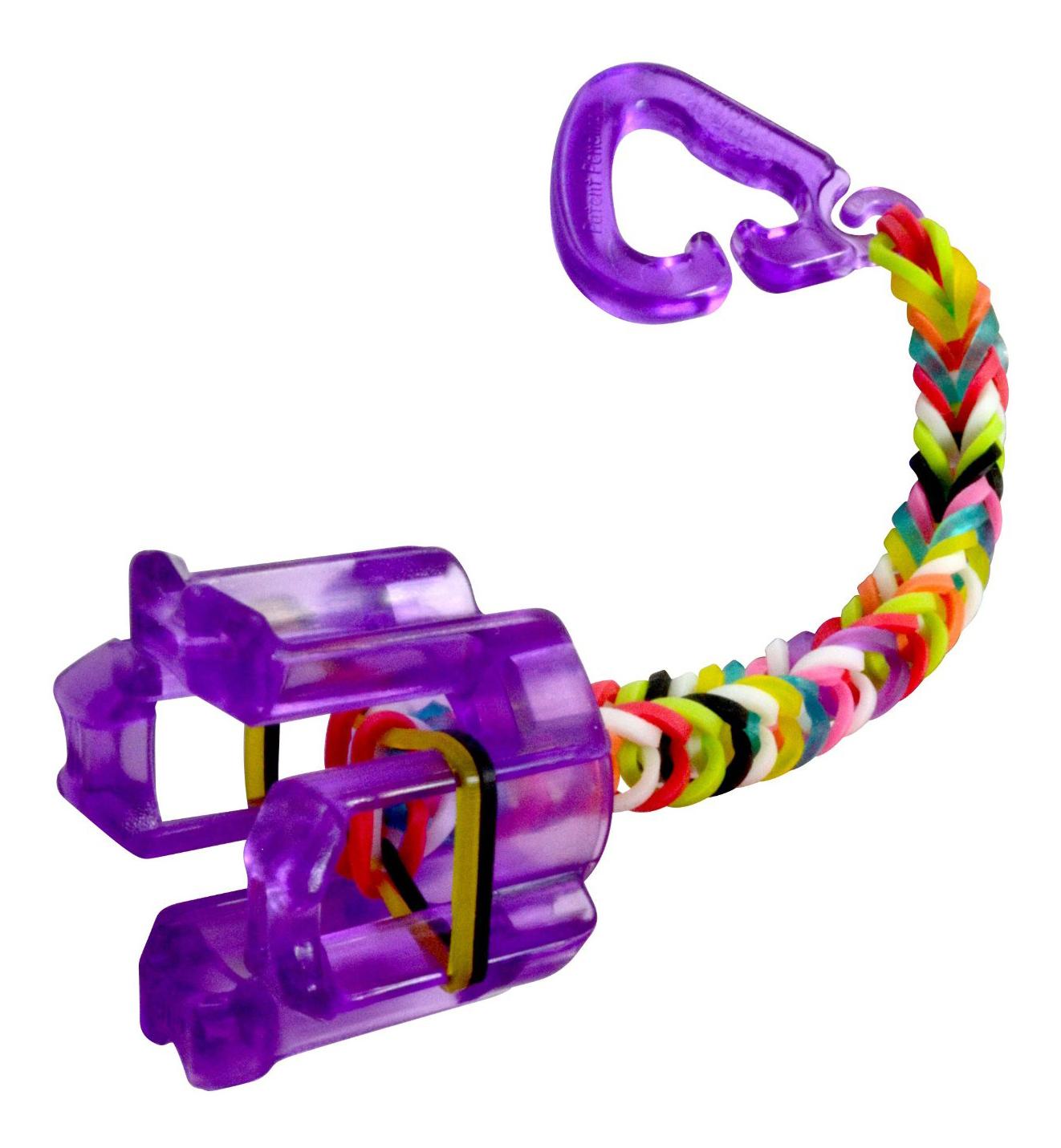 Плетение из резинок Rainbow Loom Фингер Лум фиолетовый
