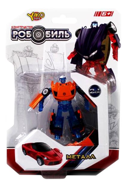 Игровой набор Трансформеры Yako Toys РобоБиль сине-оранжевой M6690-2 фото