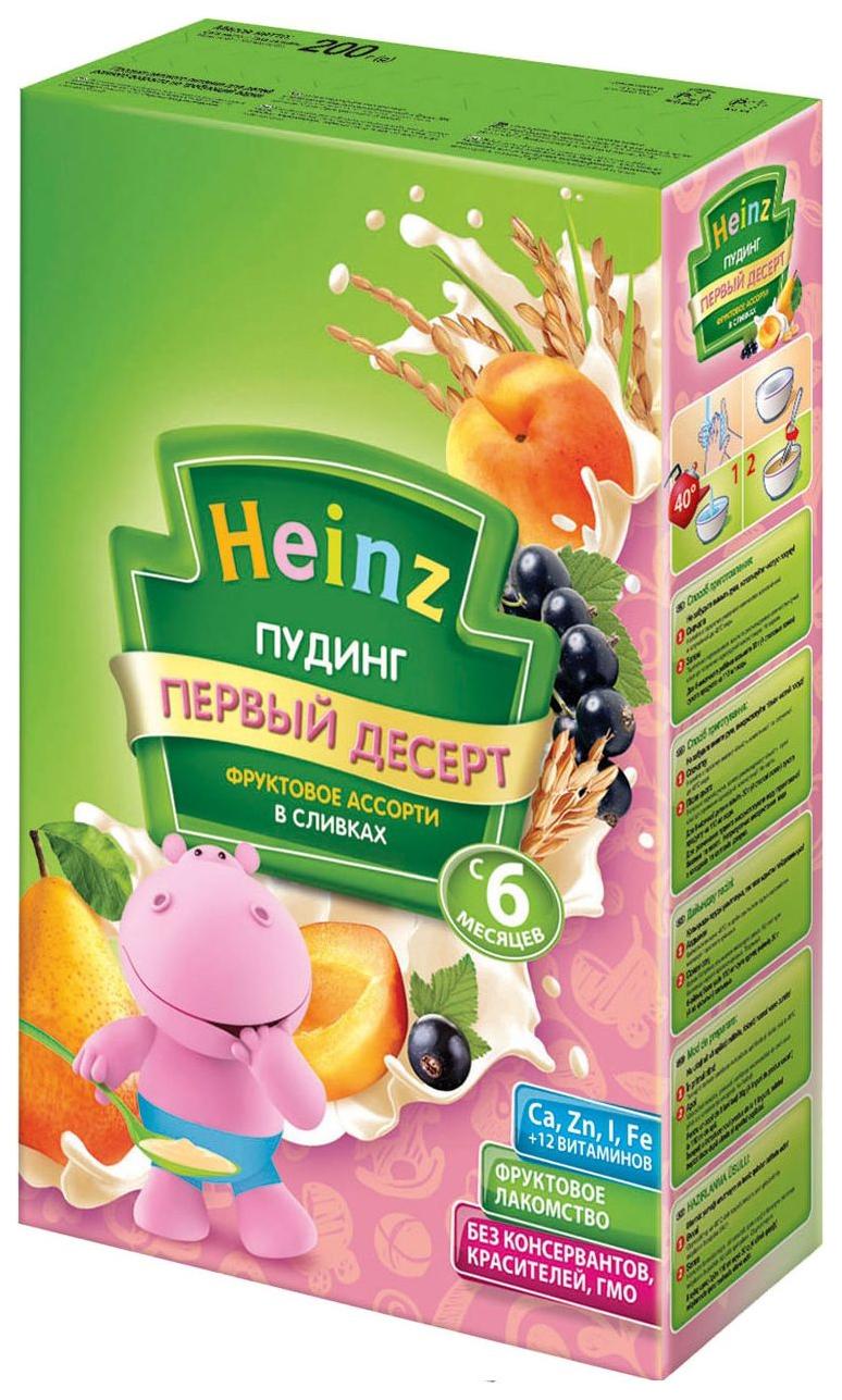 Каша молочная Heinz Фруктовое ассорти в сливках