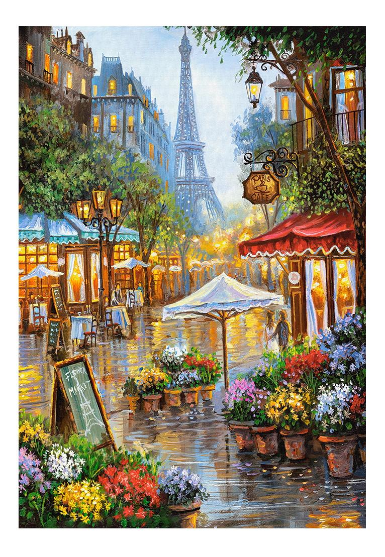 Купить Весенние цветы париж, Пазл Весенние цветы Париж 1000 элем. Castorland, Пазлы