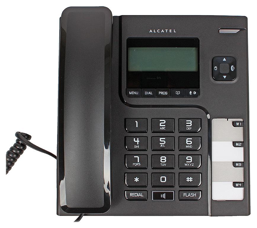 Телефон проводной Alcatel T56 Black