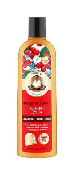 Купить Гель для душа Рецепты бабушки Агафьи на 5 соках Свежесть и сияние кожи Лимонниковый 280 мл