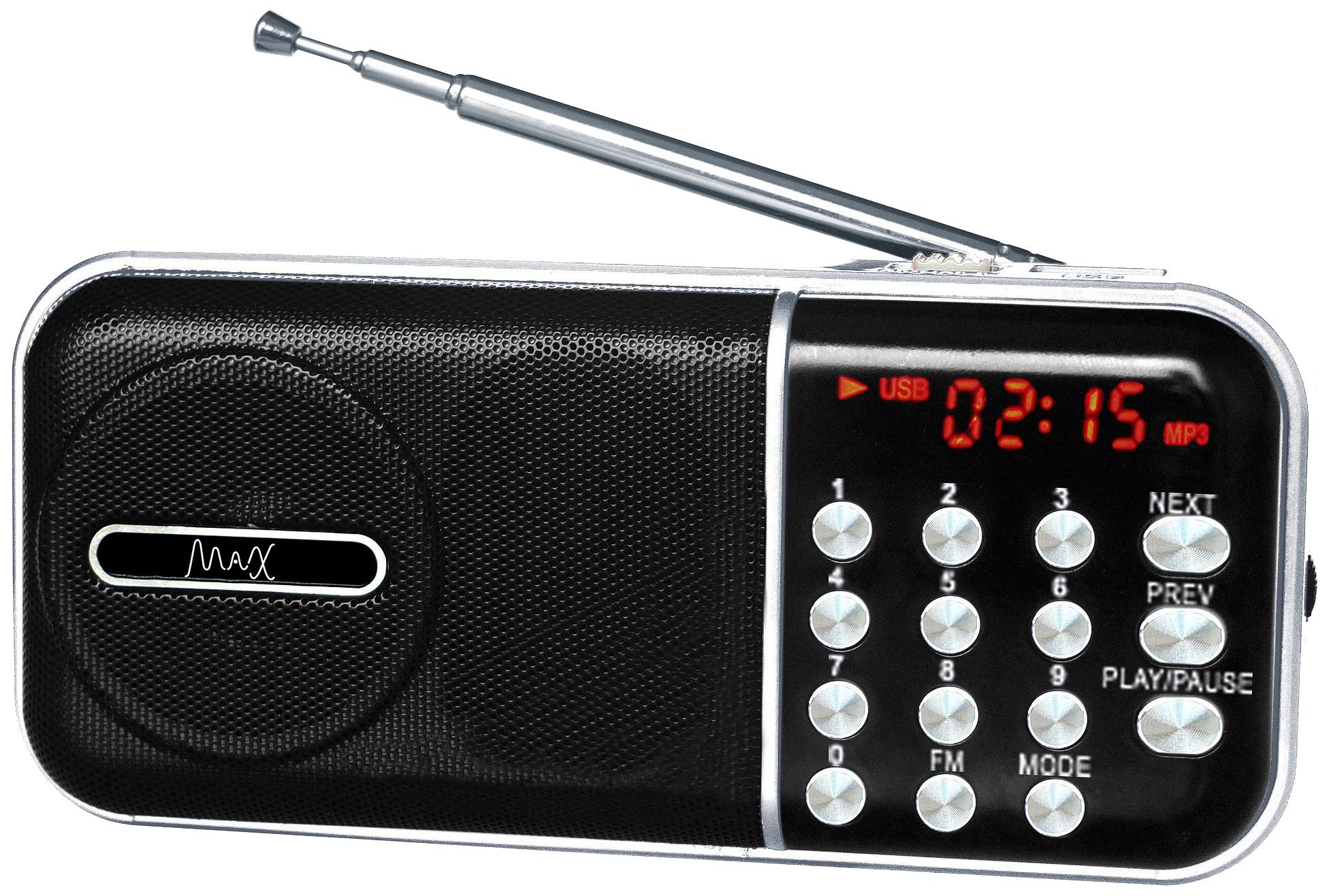 Радиоприемник MAX MR 321 Silver/Black