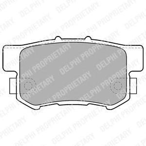 Тормозные колодки дисковые Delphi LP1507 фото