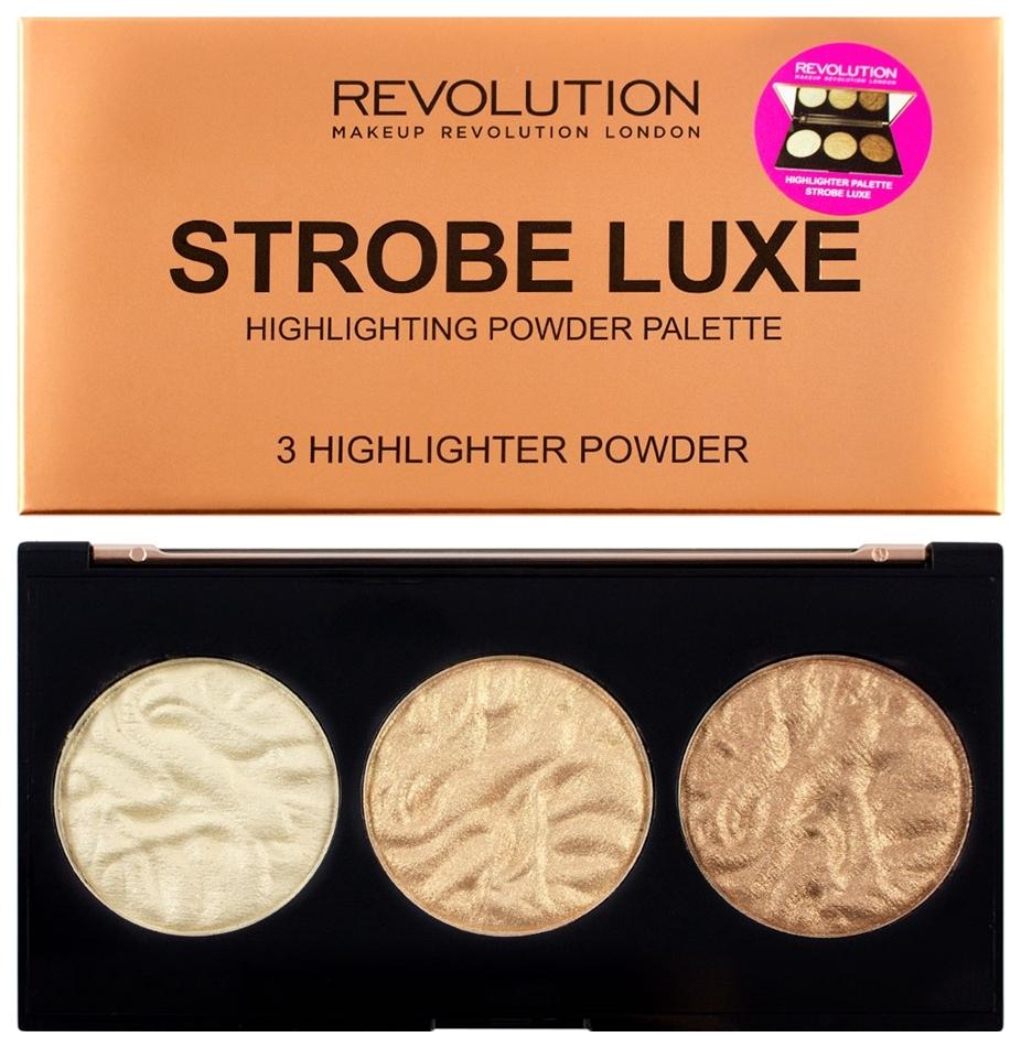 Хайлайтер Makeup Revolution Highlighter Palette Strobe Luxe 11,5