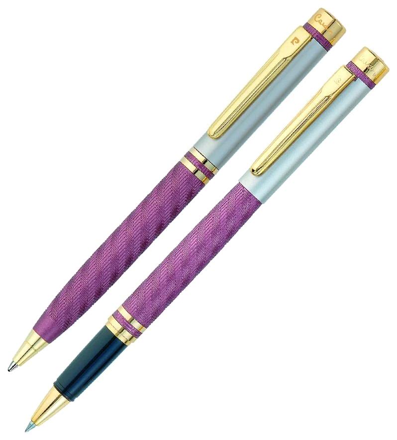 Набор подарочный Pierre Cardin Pen#and#Pen - Matte Violet, шариковая ручка+ручка-роллер М