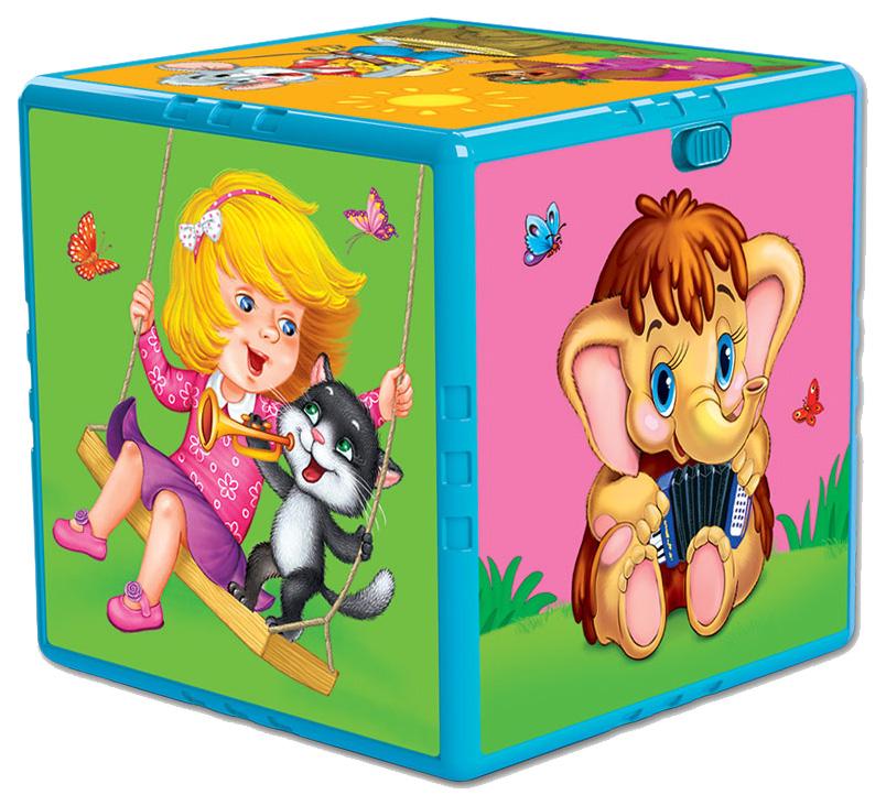 Купить Развивающая игрушка АЗБУКВАРИК Говорящий кубик Любимые мультяшки музыкальная 202-2, Азбукварик, Развивающие кубики