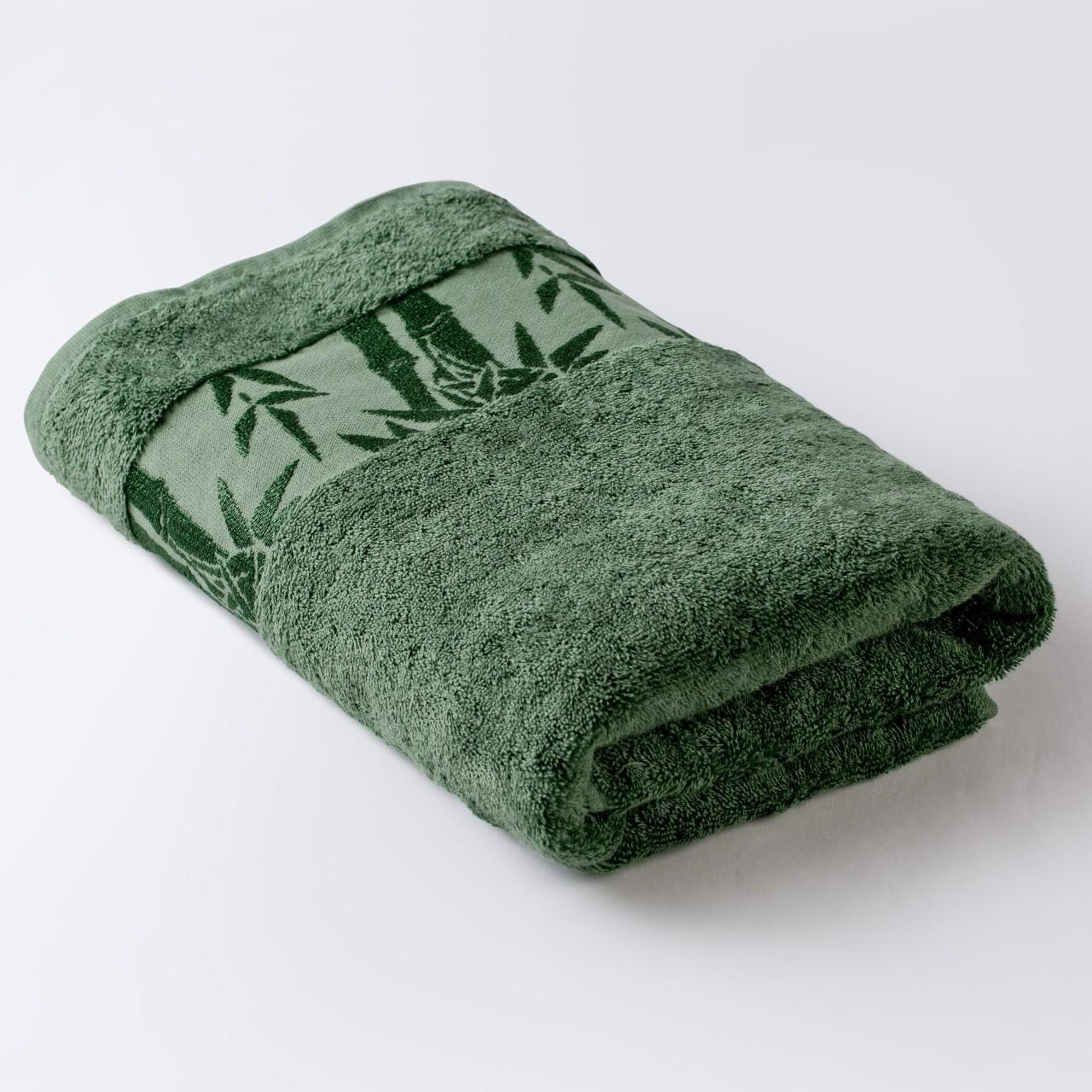 Полотенце Бамбук зеленый 91х150