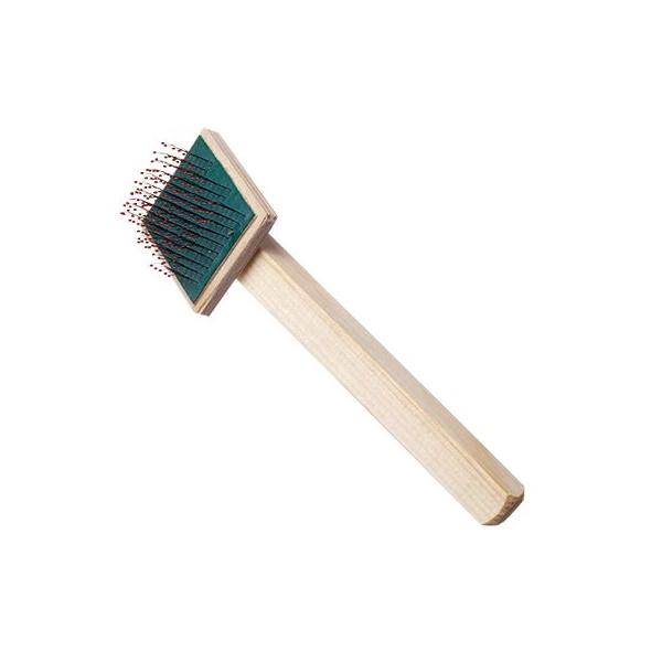 Пуходерка Зооник, деревянная, плоская, малая, с каплей,
