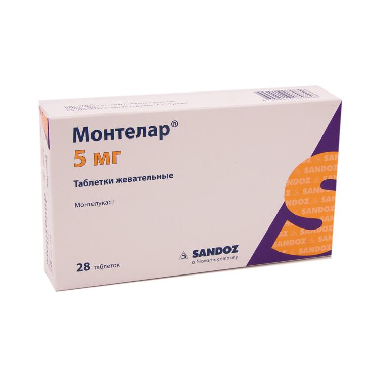Монтелар таблетки жевательные 5 мг 28 шт.