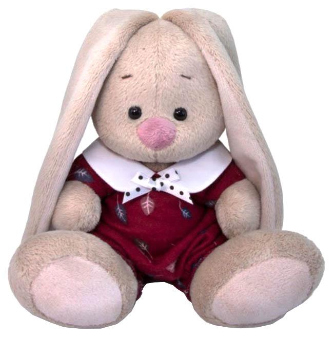 Купить Мягкая игрушка Budi Basa Зайка Ми в комбинезоне с листочками, 15 см, Мягкие игрушки животные