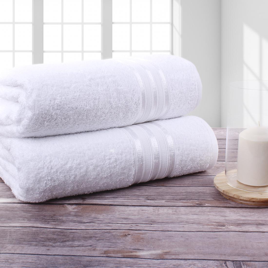 Полотенце банное Doome Гармоника Белый (70х130