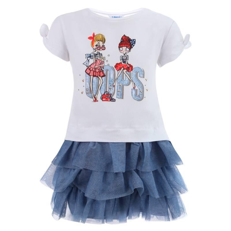 Купить Платье MAYORAL, цв. белый, 128 р-р, Детские платья и сарафаны