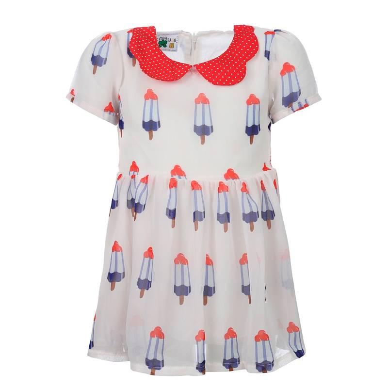 Купить Платье Sago Kids, цв. бежевый, 98 р-р, Детские платья и сарафаны