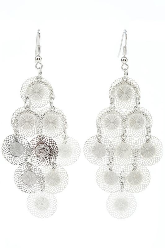 Серьги женские LACONICO LC341 серебристые