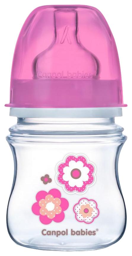 Бутылочка Canpol EasyStart PP 0+ мес. 120 мл розовый