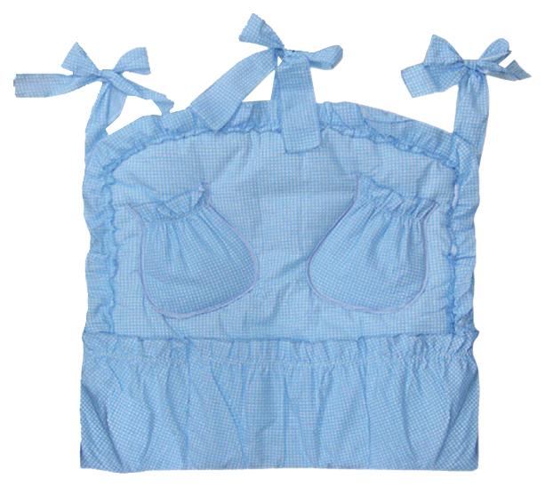 ЗОЛОТОЙ ГУСЬ Карман на кроватку Аленка (цвет: голубой) 5012