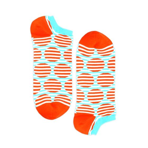 Носки унисекс Burning heels Короткий круг оранжевые/голубые 39-41
