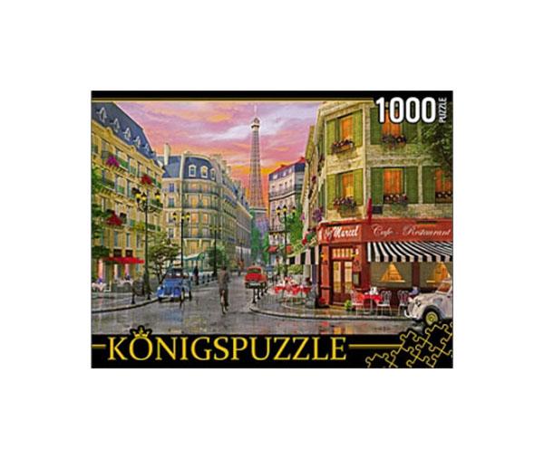 Пазл Konigspuzzle Парижская улица МГК1000-6499 1000 деталей