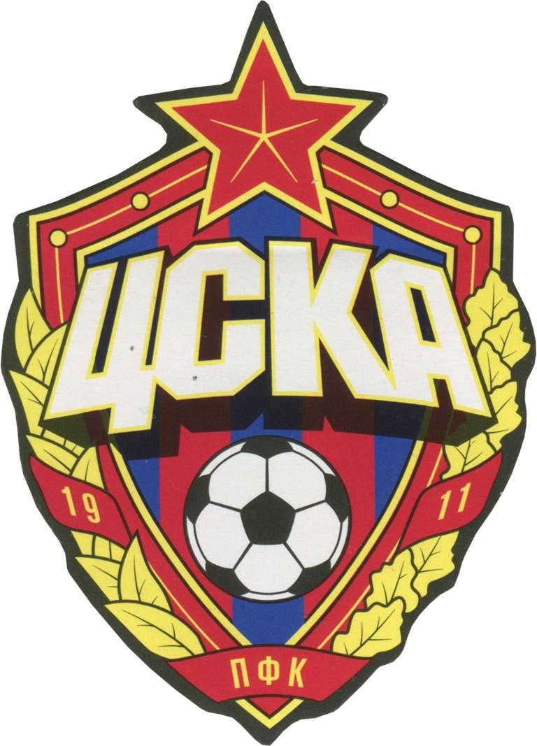 Наклейки ПФК ЦСКА Эмблема желтые/красные/синие фото