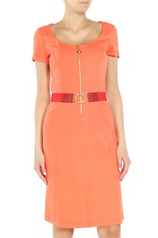 Платье женское Angelo Marani 6391/0022 оранжевое 44 IT фото