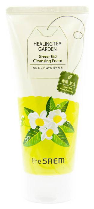 Средство для очищения The Saem Healing Tea Garden Green Tea Cleansing Foam 150 мл