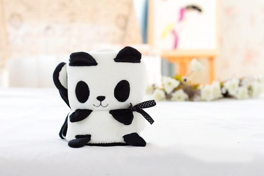 Купить Плед-игрушка панда 100х80 см, Плед-игрушка Панда 100х80 см, Beitalun, Детские пледы