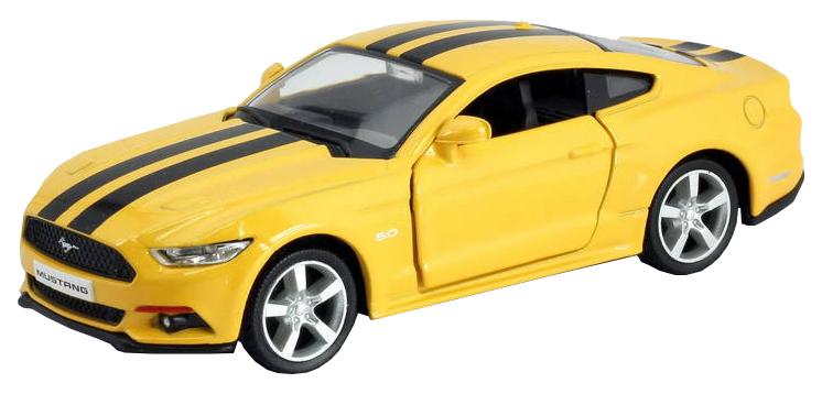 Купить Машина металлическая RMZ City 1:32 Ford 2015 Mustang with Strip желтый 554029C-YL, Коллекционные модели