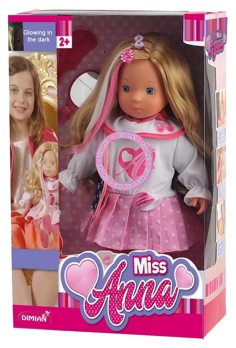 Купить Кукла Dimian Bambina Bebe 40 см Miss Anna 50 слов на русском языке с аксессуарами, Классические куклы