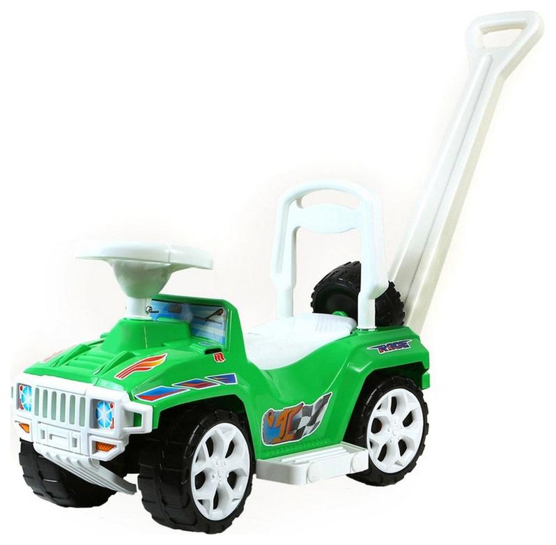 Купить Машина-каталка с родительской ручкой RT Rich Toys Race Mini Formula 1 ОР856 Зеленый, R-TOYS, Машинки каталки