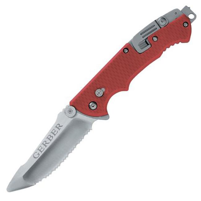 Туристический нож Gerber Hinderer Rescue красный/черный