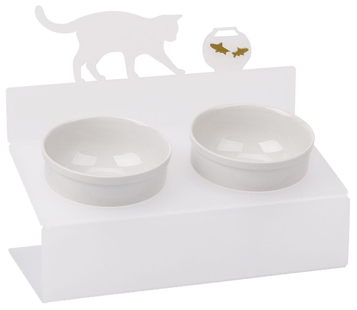 Двойная миска для кошек Artmiska, керамика, пластик,