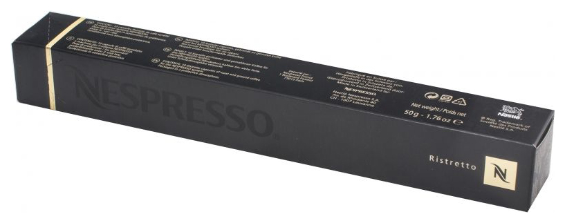 Капсулы Nespresso ristretto 10 капсул  фото