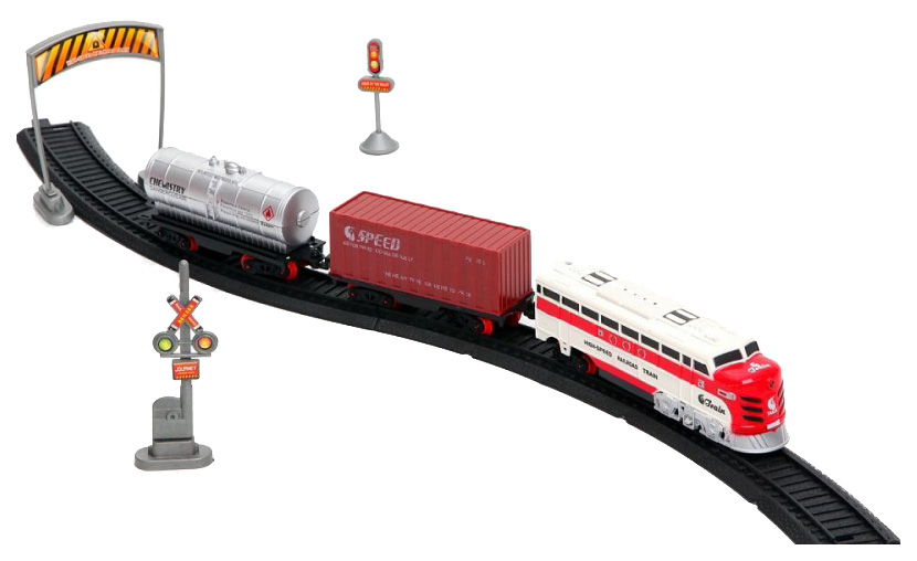 Купить Игрушечная железная дорога A.I. Train (свет, звук), 2 вагона, Shantou Gepai, Детские железные дороги