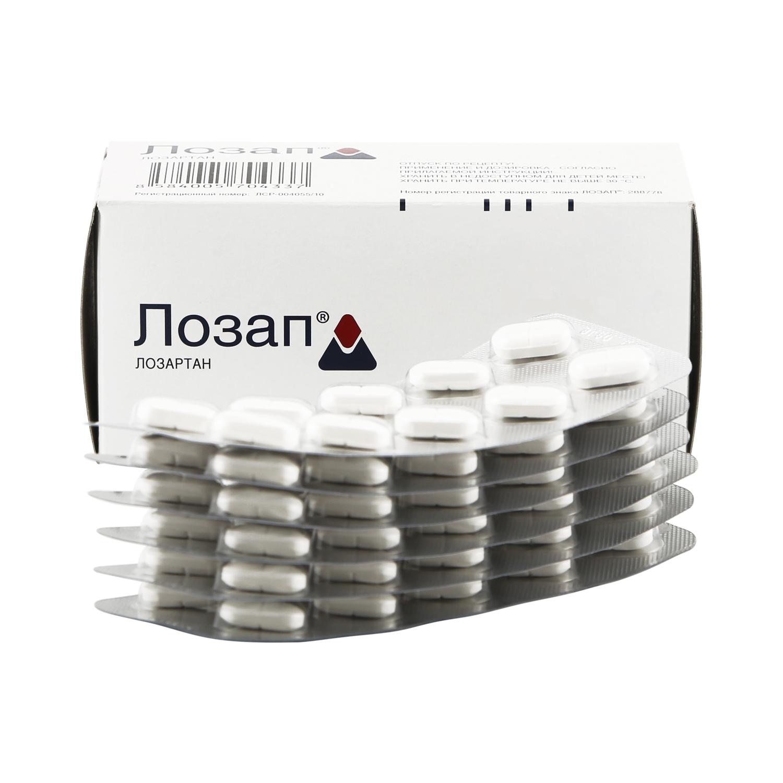 Купить Лозап таблетки 100 мг 60 шт., Zentiva