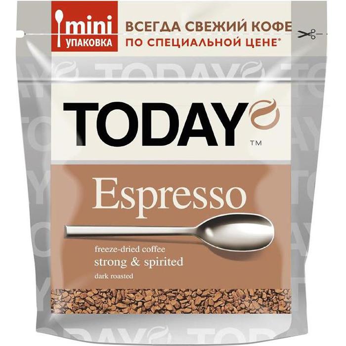 Кофе Today эспрессо растворимый сублимированный 37.5 г