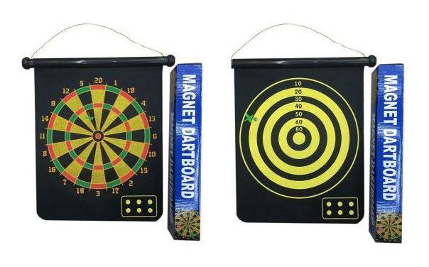 Купить Дартс магнитный Наша Игрушка двусторонний 28x35 см, Наша игрушка, Дартс детский